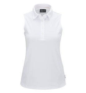 Damen Golf Button-down Ärmelloses Top