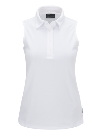 Women's Golf Button-down Sleeveless Top White | Peak Performance