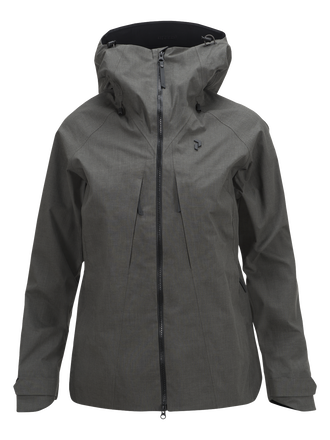Women's Melange Teton Shell Ski Jackets Black Olive | Peak Performance