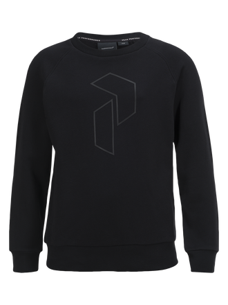 Sweat-shirt ras du cou enfant Tech Black | Peak Performance