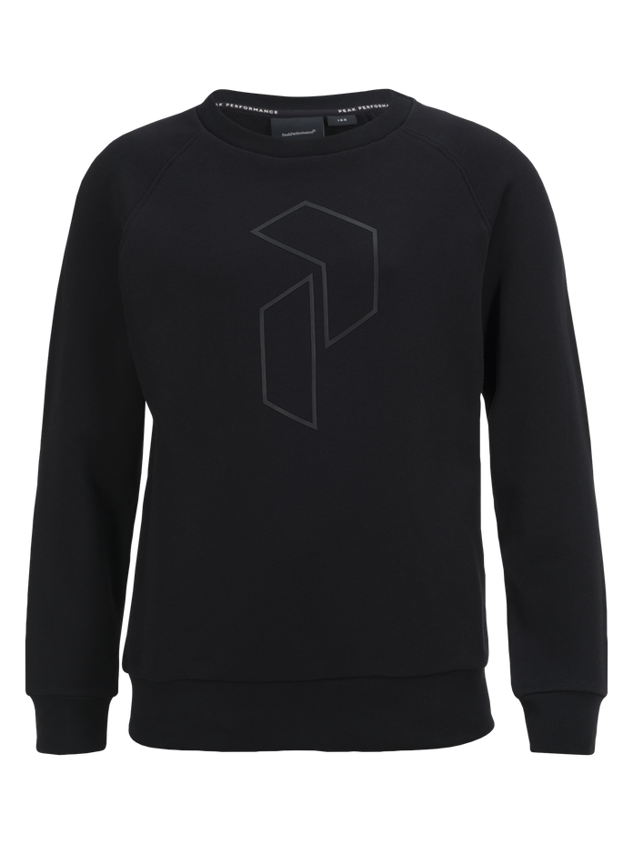 Kids tech crew neck  Black | Peak Performance