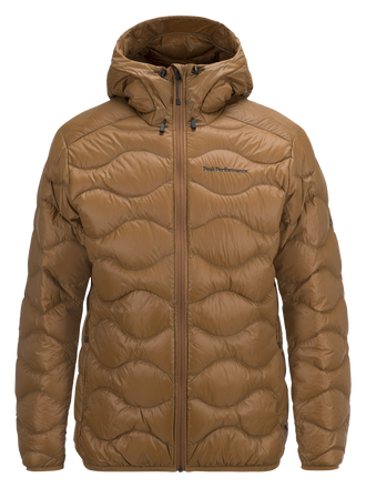 Men's Helium Hooded Jacket Honey Brown | Peak Performance