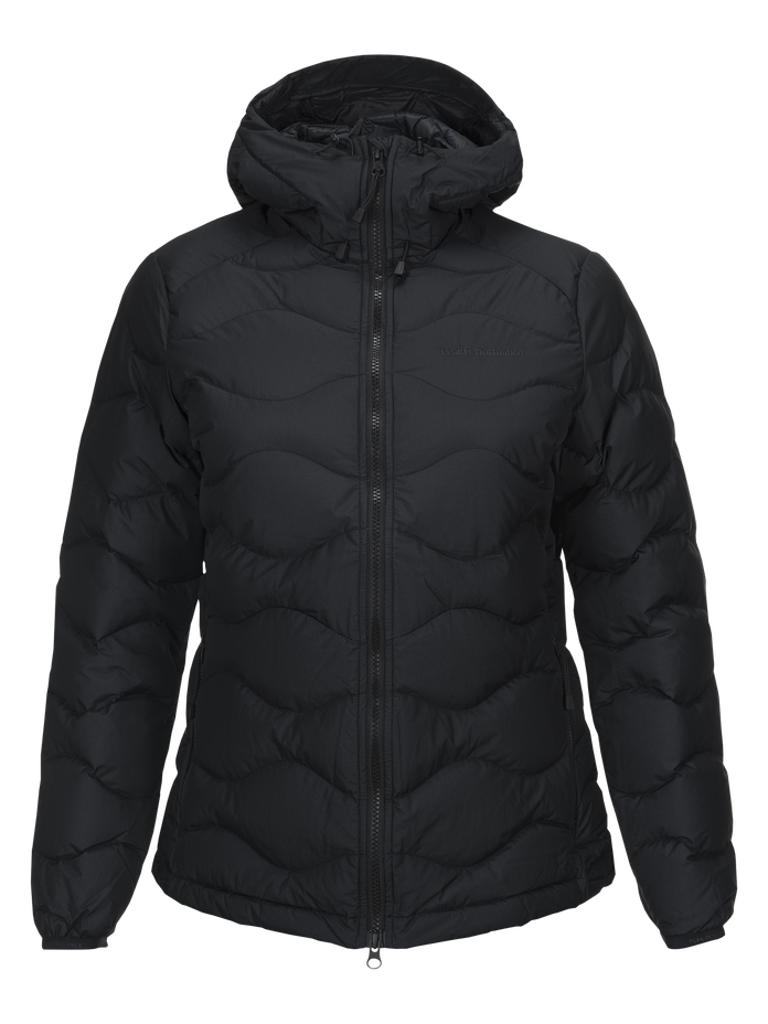 Women's Winter Helium Hooded Jacket Black | Peak Performance