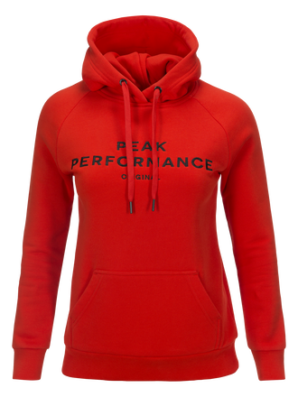 Women's Logo Hood Poppy Red | Peak Performance