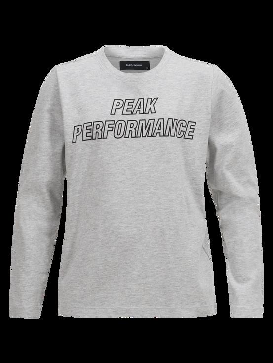 Kids Long-sleeved T-shirt  Med Grey Mel   Peak Performance