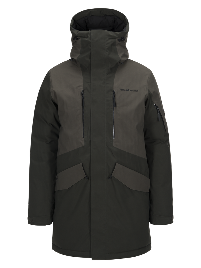 Men's Expedition Ski Parka Olive Extreme | Peak Performance