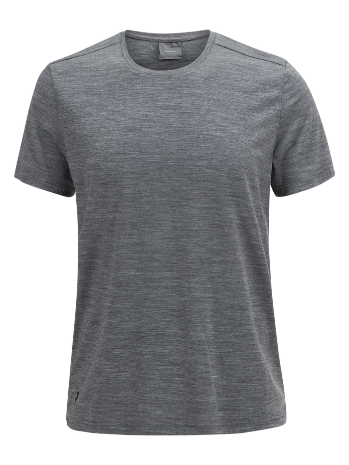 Civil Merino t-shirt för herrar Grey melange | Peak Performance