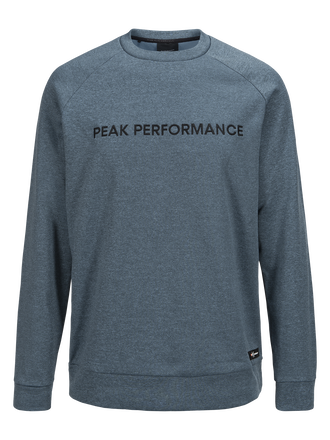 Herren Goldeck Rundhalsausschnitt Blue Steel | Peak Performance