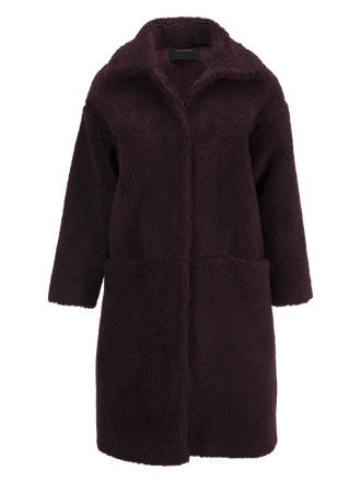 Women's Teddy Coat Mahogany | Peak Performance