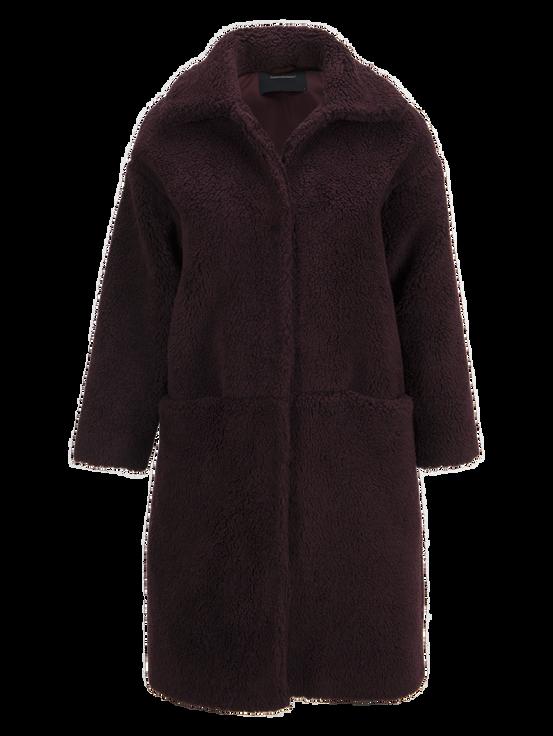 Women's Teddy Coat Mahogany | Peak Performance