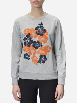 Women's Original Appliqué Crew neck Med Grey Mel | Peak Performance