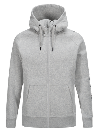 Men's Zipped Hooded Sweater Med Grey Mel | Peak Performance