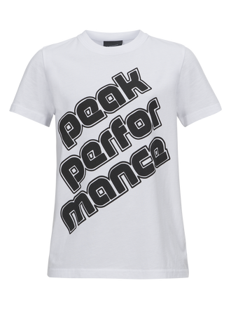 Kids Sportswear Printed T-shirt White | Peak Performance