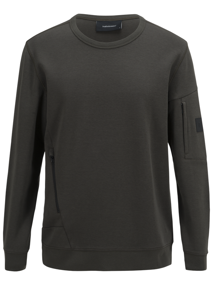 Men's Scrill Crew neck Olive Extreme | Peak Performance