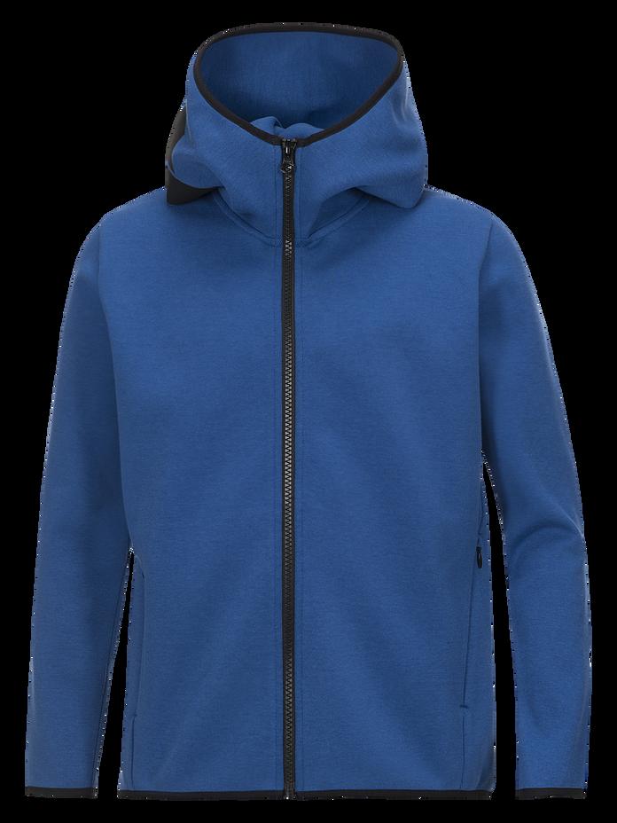 Kids Tech Zipped Hooded Jacket True Blue | Peak Performance