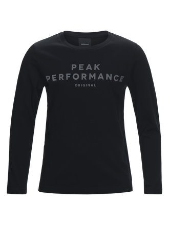 Kids Logo Long-sleeved Jersey Black | Peak Performance