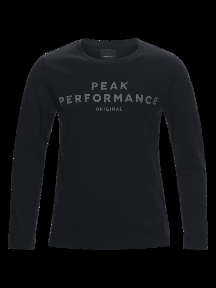 Logo långärmad barntröja Black | Peak Performance