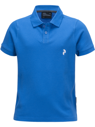 Kids Golf Pique  English Blue | Peak Performance