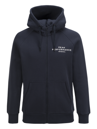 Mens Logo Zip Hood Salute Blue | Peak Performance