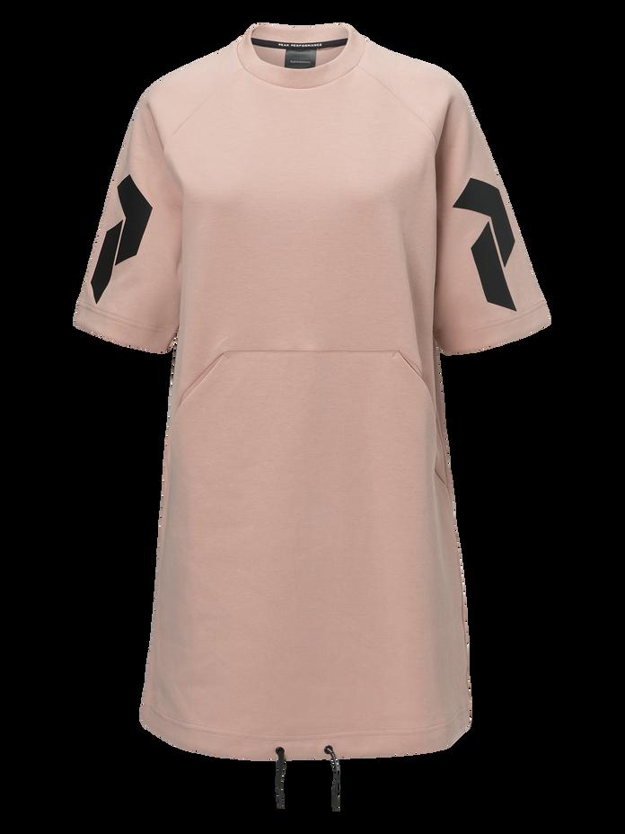 Women's Tech Short-sleeved Dress Softer Pink   Peak Performance