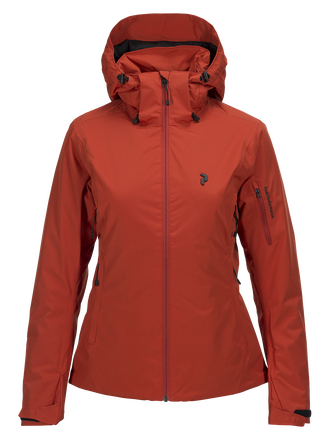 Women's Anima Ski Jacket Orange Planet | Peak Performance
