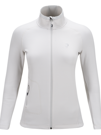 Women's Waitara Zipped Mid-Layer Dk Offwhite | Peak Performance