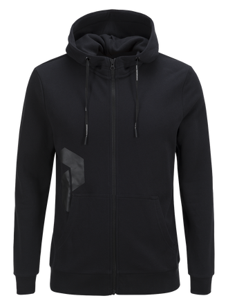 Sweat zippé à capuche homme Zero Black | Peak Performance
