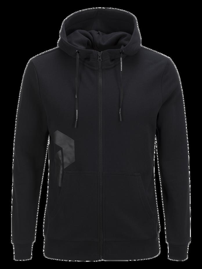 Men's Zero Zipped Hooded Sweater Black | Peak Performance