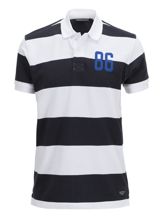 Men's Sting Striped Piqué