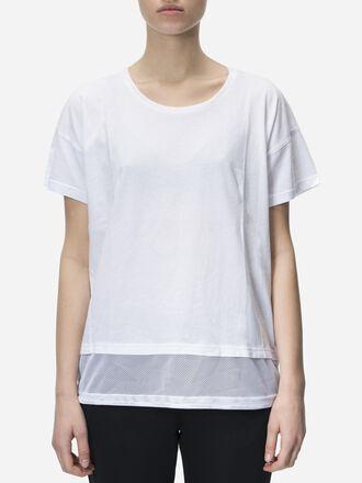 Women's Tech Drawstring T-shirt White | Peak Performance