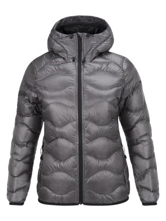 BL Helium damjacka med huva Quiet Grey | Peak Performance