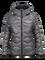 Women's BL Helium Hooded Jacket Quiet Grey   Peak Performance