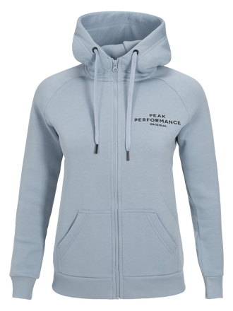Sweat zippé à capuche et logo femme Downy Blue | Peak Performance