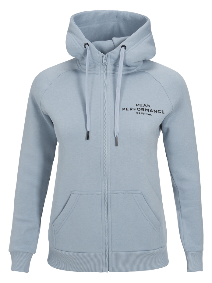 Women's Logo Zipped Hood Downy Blue | Peak Performance