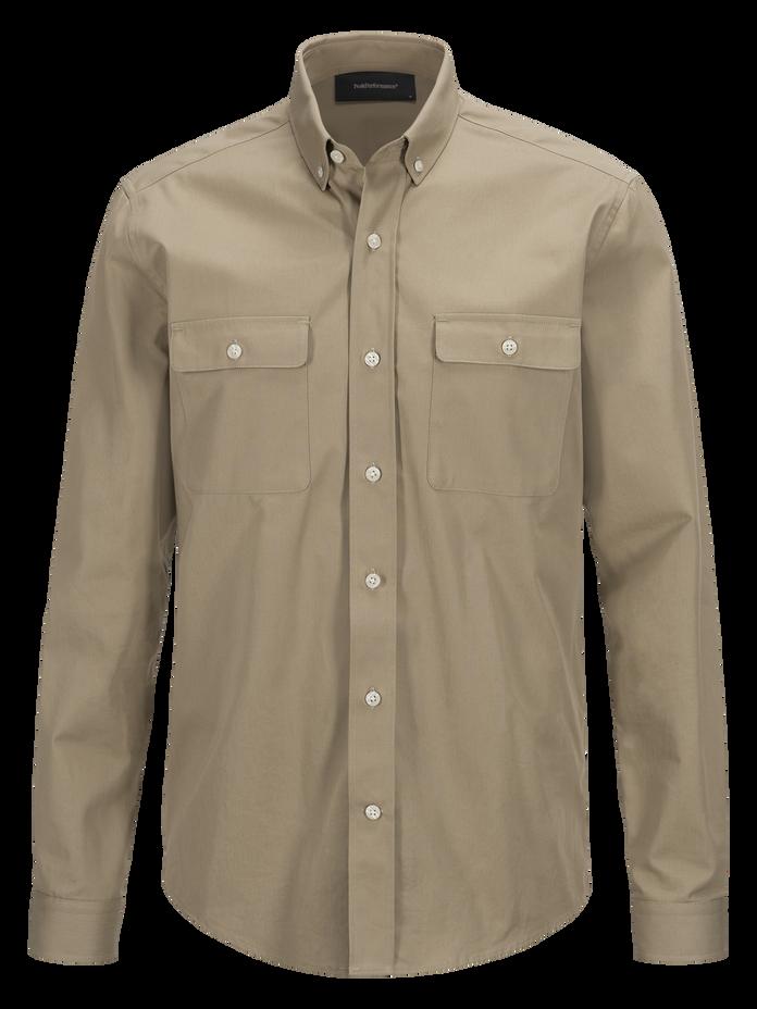 Dean militärskjorta för herrar True Beige | Peak Performance
