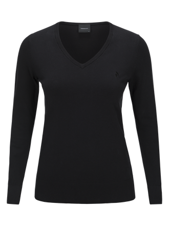 Women's Golf Classic V-neck Sweater Black | Peak Performance