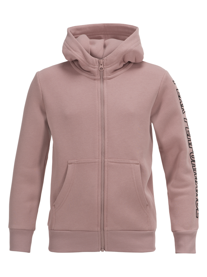 Kids Zipped Hooded Sweater Dusty Roses | Peak Performance