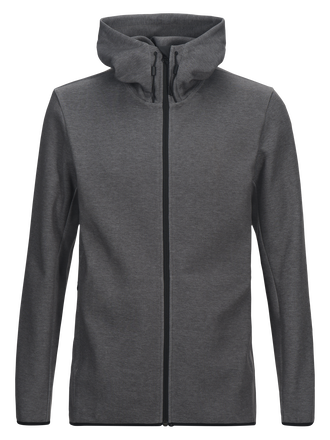 Men's Tech Zipped Hoodie Grey melange | Peak Performance