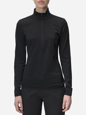 Jersey de golf à demi-zip femme Ace Black | Peak Performance