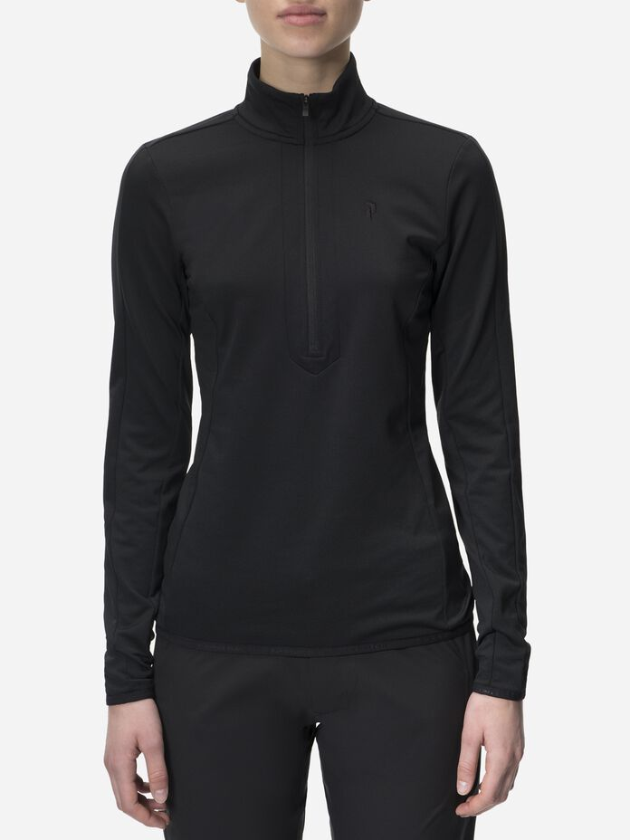 Women's Ace Half Zipped Golf Jersey Black | Peak Performance