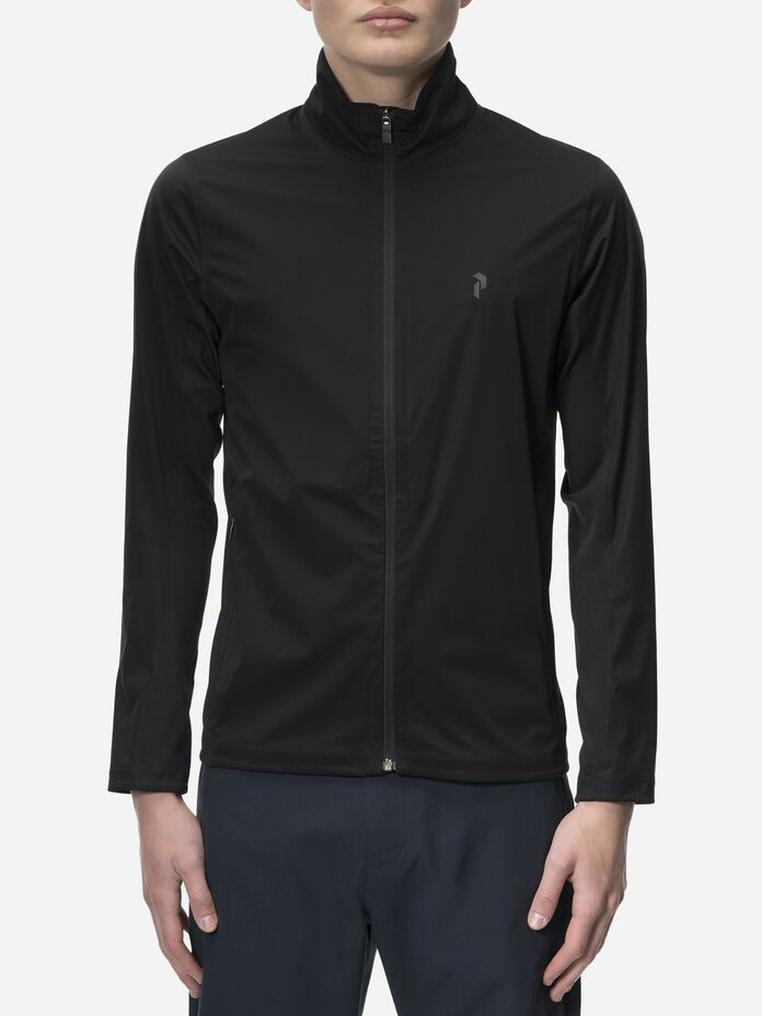 Men's Golf Howick Softshell Jacket Black | Peak Performance