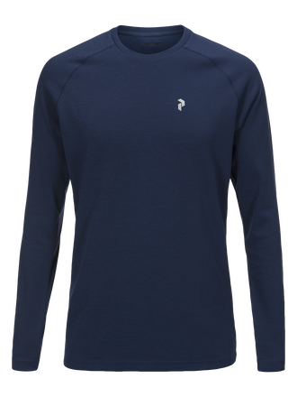 Men's Power Crew neck Thermal Blue | Peak Performance