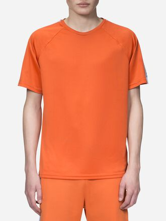 Men's Tech Club T-shirt Orange Flow | Peak Performance
