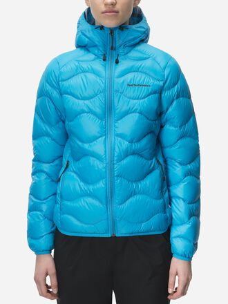 Women's Helium Hooded Jacket Active Blue | Peak Performance