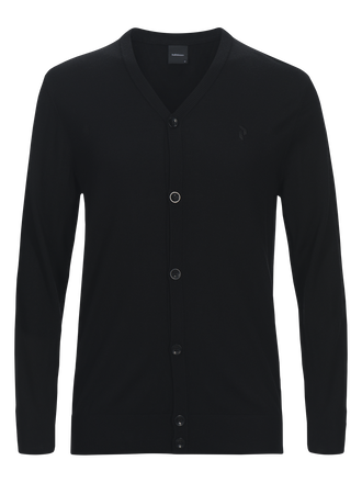 Men's Golf Classic Cardigan Black | Peak Performance