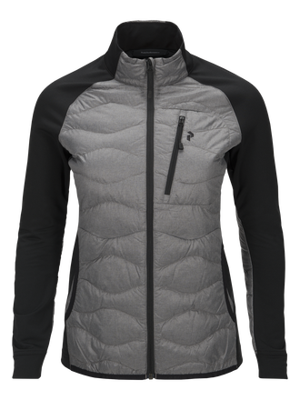 Women's Helium Hybrid Melange Jacket Grey melange | Peak Performance