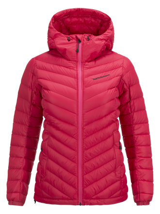 Women's Frost Down Hooded Jacket Pink Planet | Peak Performance