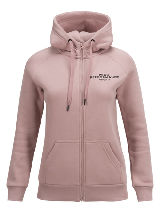 Women's Logo Zipped Hood Dusty Roses | Peak Performance