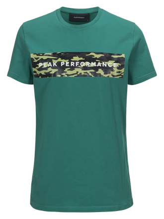 Sportswear t-shirt för herrar Shady Green | Peak Performance