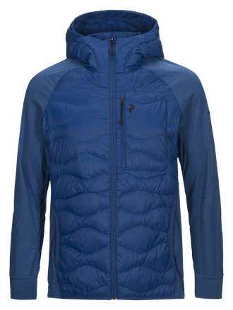 Men's Helium Hybrid Hooded Jacket True Blue | Peak Performance